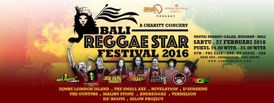 Flyer Event Tony Q Rastafara Bali
