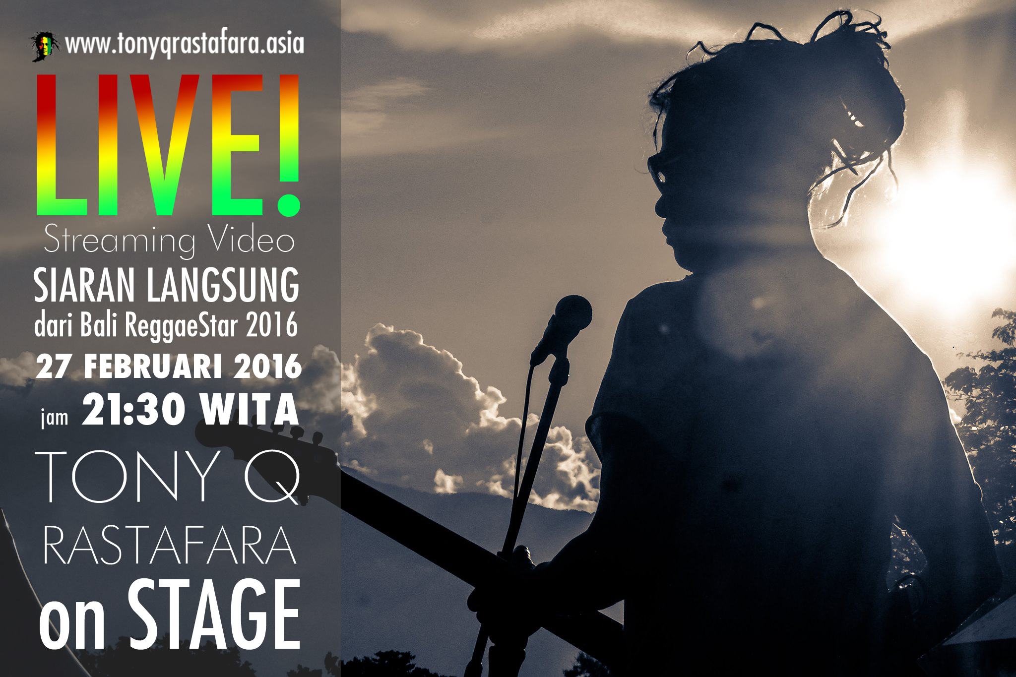 Tony Q Rastafara Live Streaming Event